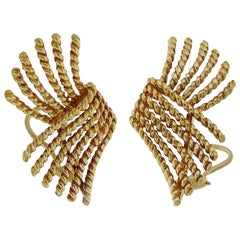 Jean Schlumberger for Tiffany & Co., V Rope Earrings