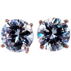 GIA Certified 10.76 & 10.95ct Diamond Stud Earrings E/FL Type 2a X Cut 18 Karat