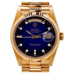 Rolex President ref 18238 18K Dégradé Diamond Dial c. 1997 Mint Box & Papers