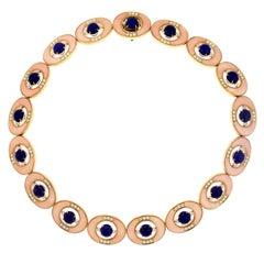 Faraone Mennella Angel Skin Coral Lapis Lazuli and Diamond Necklace