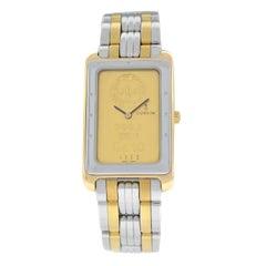 Men's Corum Ingnot Steel 24 Karat 10 Gram Gold 999.9 Quartz Watch