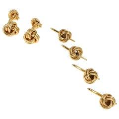 Tiffany & Co. Love Knot Cufflinks and Matching Shirt Studs