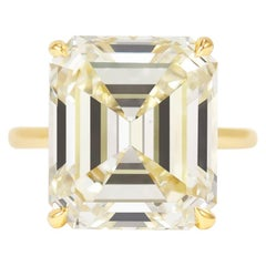 J. Birnbach 11.53 Carat Emerald Cut Solitaire Diamond Ring