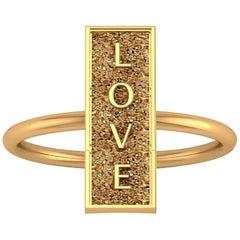 18 Karat Gold Ring Everlasting Love Sculpted in the Rock Ferrucci