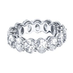 Oval Cut 3 Carat Diamond Eternity Band 950 Platinum