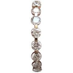 Round Diamond Wedding Eternity Band 1.26 Carat TW, 14 Karat Y, Ben-Dannie