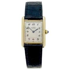 Cartier Must Tank Vermeil 590005 Quartz Wristwatch