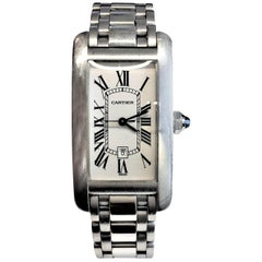 Cartier White Gold Tank Americaine Automatic Watch