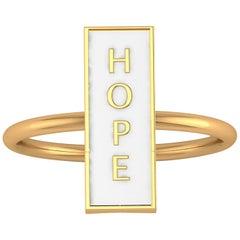 18 Karat Gold Forever Hope in White Ring Ferrucci
