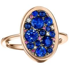 1.65 Carat Sapphire & Purple Diamond Pave Ring