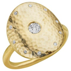 Rose Cut Diamond and 18 Karat Gold Ring