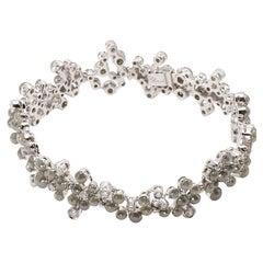 Art Deco Style 18 Karat White Gold Black Grey Diamond  Bracelet