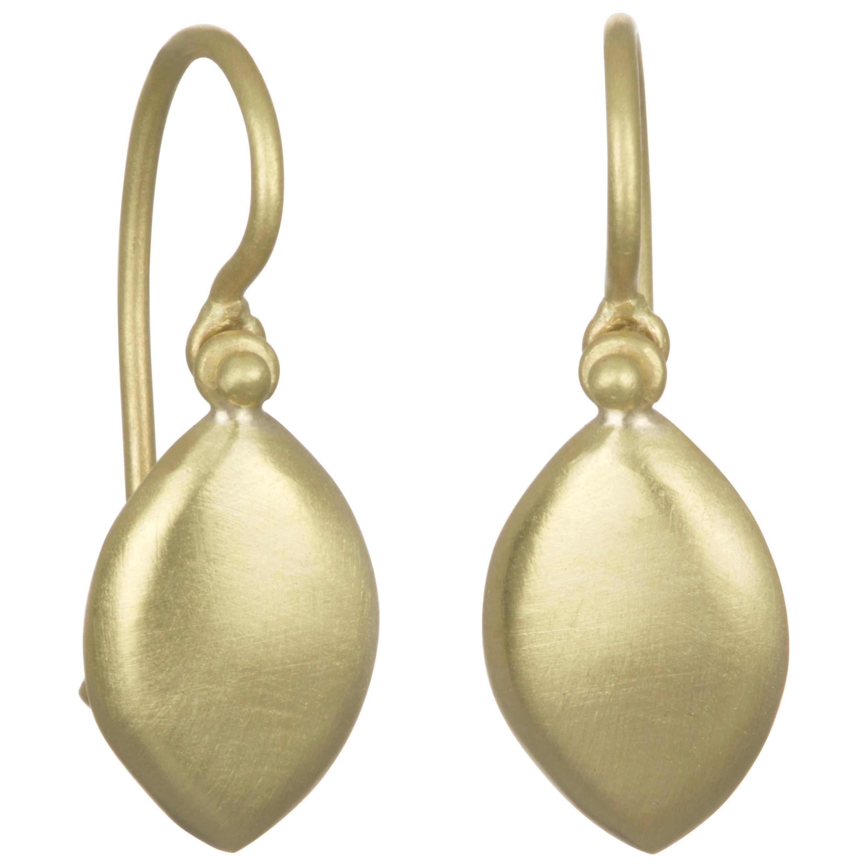 Faye Kim 18 Karat Gold Marquise Chiclet Earring