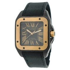 "Cartier Santos 100 Large ""100th Anniversary"", Black Dial, Rose Gold Bezel"