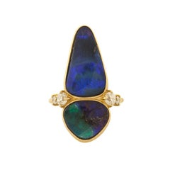 Mociun Australian Boulder Opal Ring