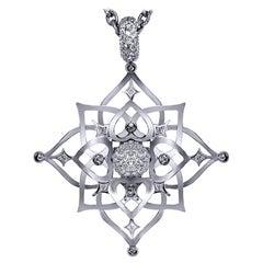 Alex Soldier Diamond Quartz Lucky Star Pendant Necklace Choker Enhancer