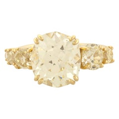 Mociun Old Mine Cut Diamond Cluster Ring