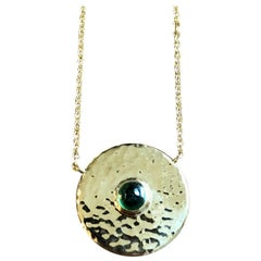 Tsavorite and 18 Karat Gold Pendant Necklace