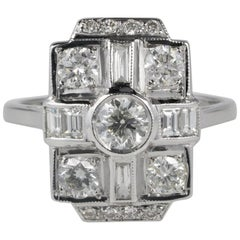 1.60 Carat Diamond G VVS VS Dazzling Dinner Ring