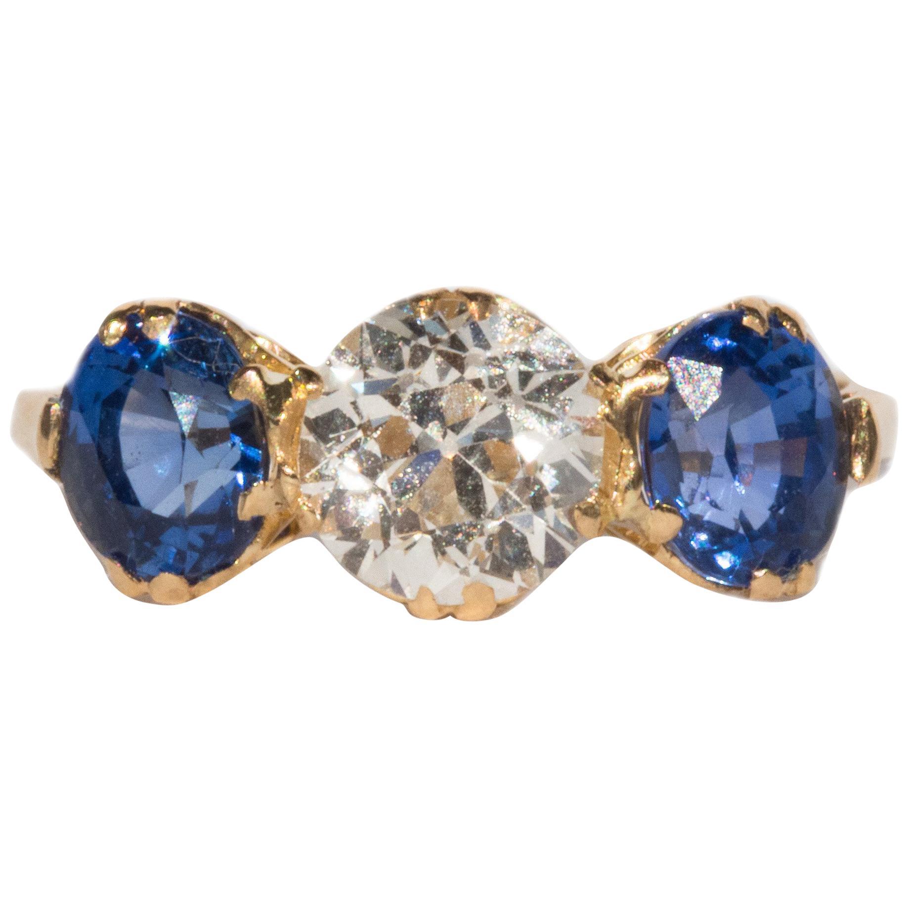 GIA Certified 1.09 Carat Diamond Yellow Gold Engagement Ring