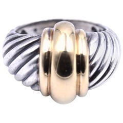 David Yurman Sterling Silver Cable Dome Ring