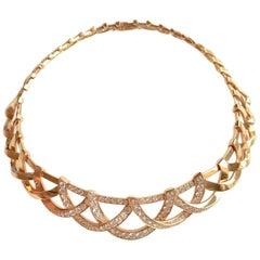 Van Cleef & Arpels Necklace Semi-Rigid in 18 Carat Gold and Diamonds