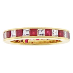 Tiffany & Co. Ruby and Diamond Band Ring