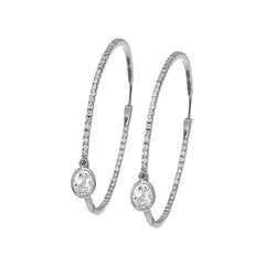 Ivanka Trump White Gold Diamond Hoops