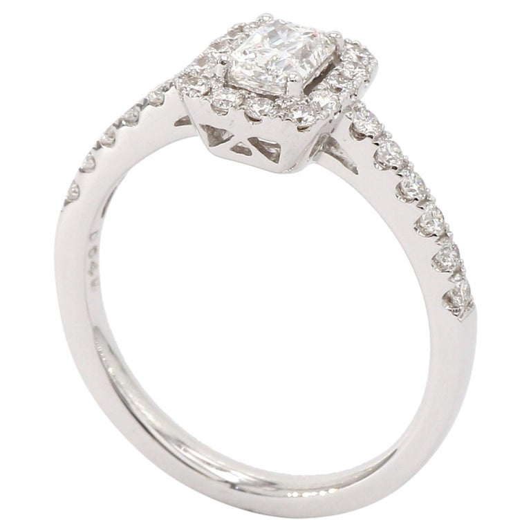 cee007dc3 18 Karat White Gold Radiant Shape Diamond Engagement Ring For Sale ...