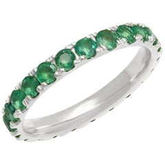 Emerald Band Eternity Band, 14 Karat Gold, Ben Dannie