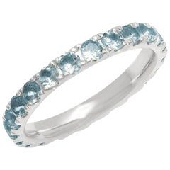 Aquamarine Band Eternity Band, 14 Karat Gold, Ben Dannie