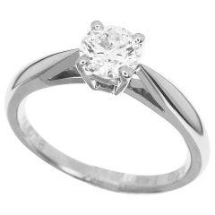 Van Cleef & Arpels 0.50 Carat Diamond Platinum Bonheur Solitaire Ring