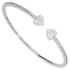 Rigid Extensible Bracelet with Diamond 18 Karat