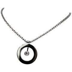 Roberto Coin Cento Diamond 18 Carat Gold O Pendant and Chain