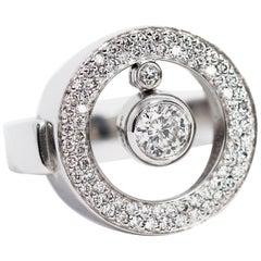Roberto Coin Cento Diamond O 18 Carat White Gold Ring