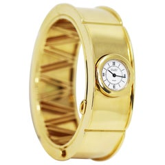 Vintage Van Cleef & Arpels 18 Carat Yellow Gold Bangle Watch