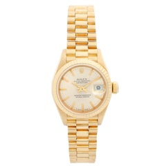 Rolex President Ladies 18 Karat Yellow Gold Watch 69178