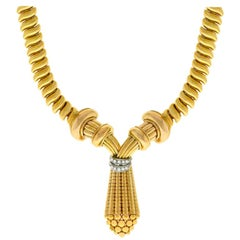 Retro Diamond Gold Chain Necklace