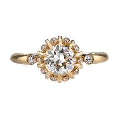 0.93 Carat GIA Certified Old European Cut Diamond Ring