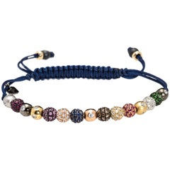 Rosa Van Parys Gabby 2.0 Diamond and Color Precious Stones Pavé Beaded Bracelet