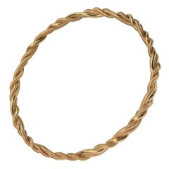 Tiffany 18K Yellow Gold Rope Bangle Bracelet