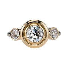 0.93 Carat Egl Certified Old European Cut Diamond Ring