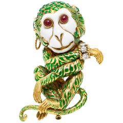 Gypsy Monkey Brooch