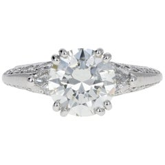 Tacori Platinum 2.3 Carat Diamond Ring GIA Certified