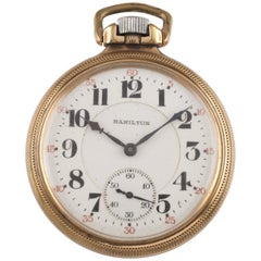 Hamilton Grade 992 10 Karat Gold Filled Pocket Watch 21 Jewel, 1921