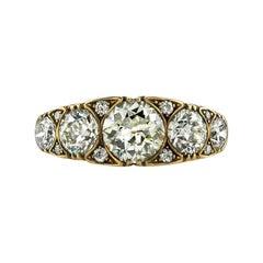 3.42 Carat GIA and EGL Certified Old European Cut Diamond Ring
