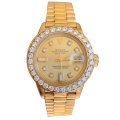 Rolex Datejust 79178 18k Yellow Gold Champagne DIamond DIal 1.50 CTW Dia Bezel