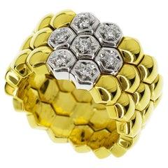Piaget Diamonds 18 Karat Yellow Gold White Gold Glancy Ring