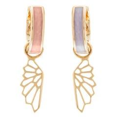 18 Karat Rose Gold Luminary Fairy Earrings by Alessa Jewelry