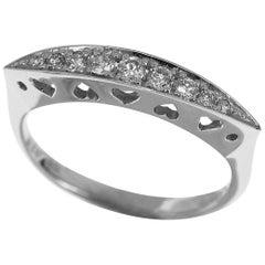 Samantha Tiara Diamond 18 Karat White Gold Ring US